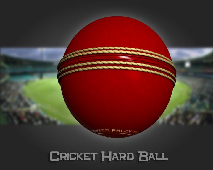 cricket hard ball 3d model 3ds max obj 115561