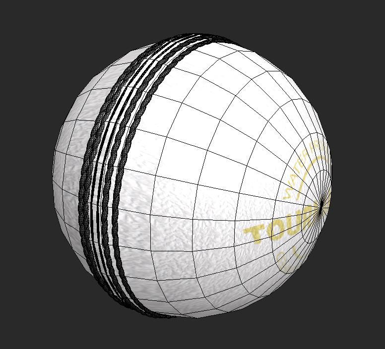 cricket hard ball 3d model 3ds max obj 115563