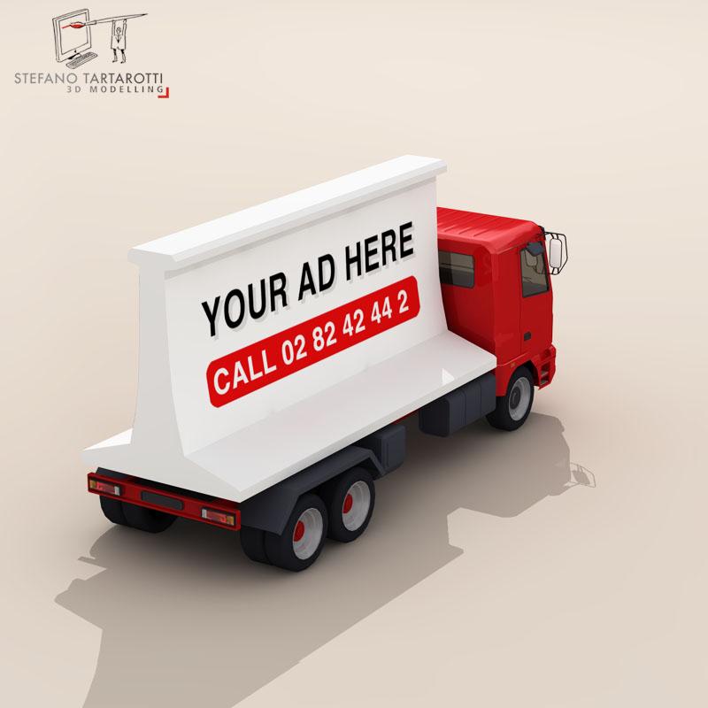 ad truck 3d model 3ds dxf fbx c4d dae obj 102822