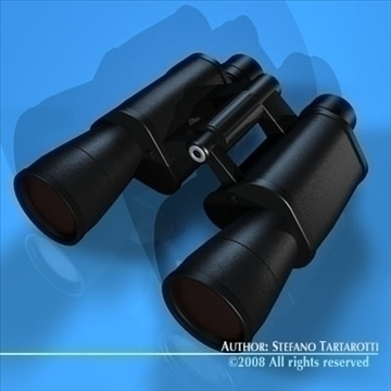binocular 3d model 3ds dxf c4d obj 89162