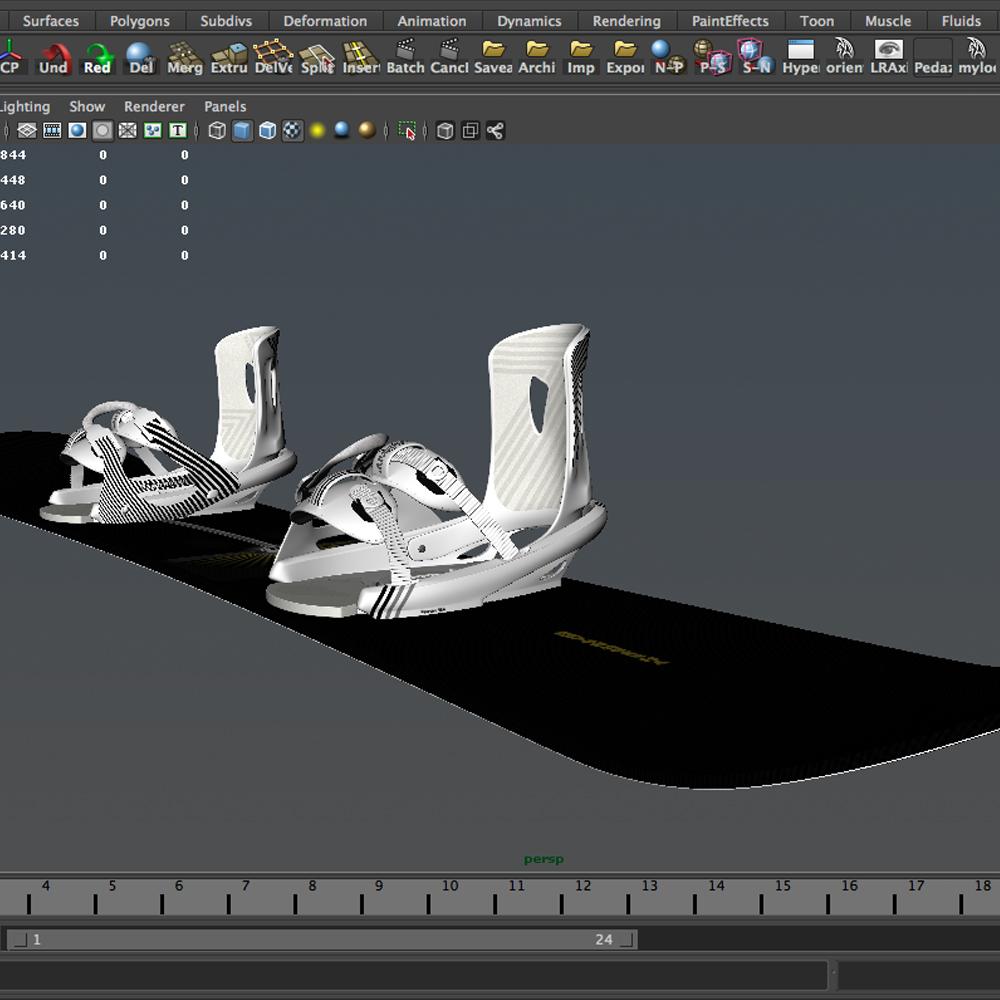 board-bindings 3d model 3ds max fbx ma mb obj 157625