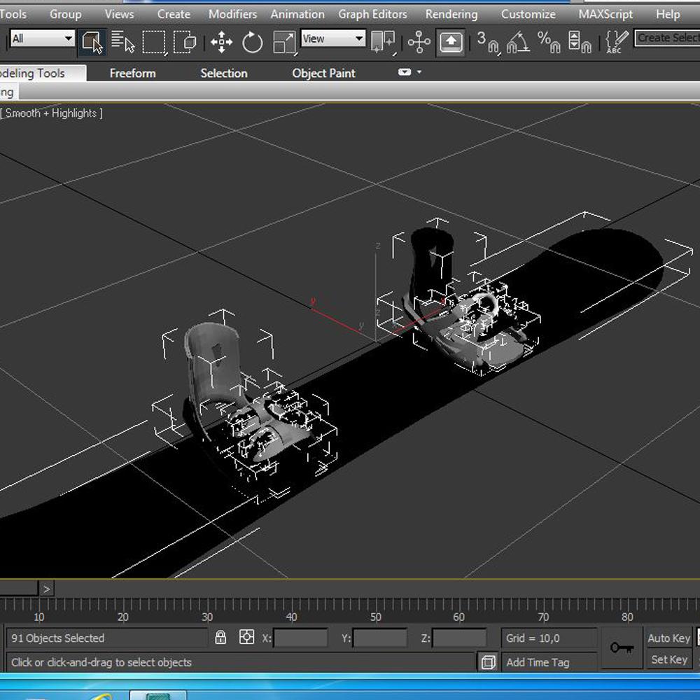 board-bindings 3d model 3ds max fbx ma mb obj 157637