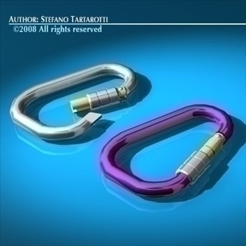 carabiner model 3d 3ds dxf c4d obj 91816