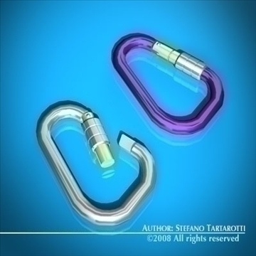 carabiner 3d model 3ds dxf c4d obj 91818