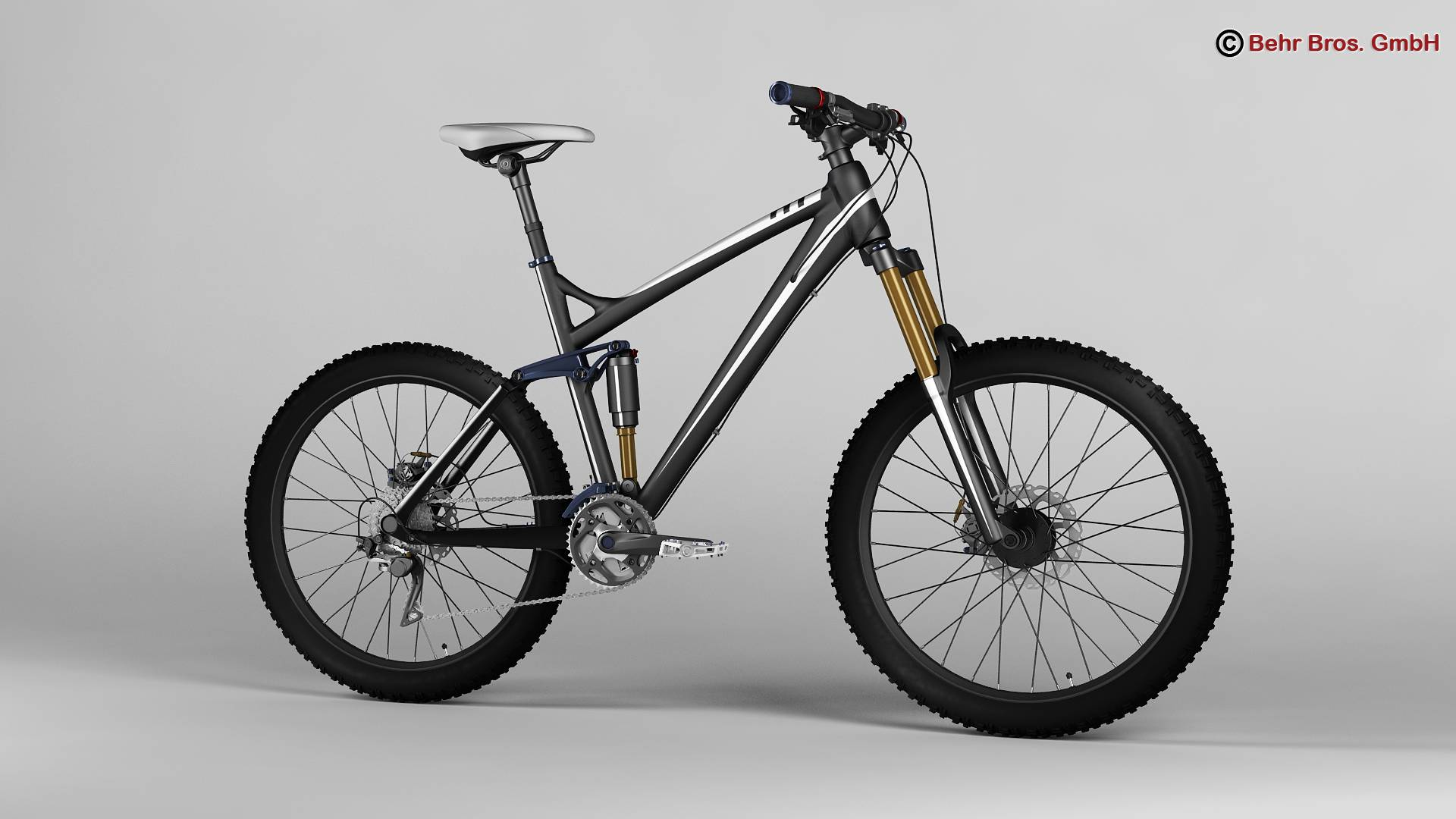 generic mountain bike 3d model 3ds max fbx c4d lwo ma mb obj 160594