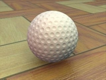 golfball 3d model 3ds max lwo hrc xsi obj 110959