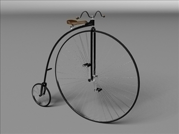 penny farthing 1886 3d model 3ds max c4d obj 111207