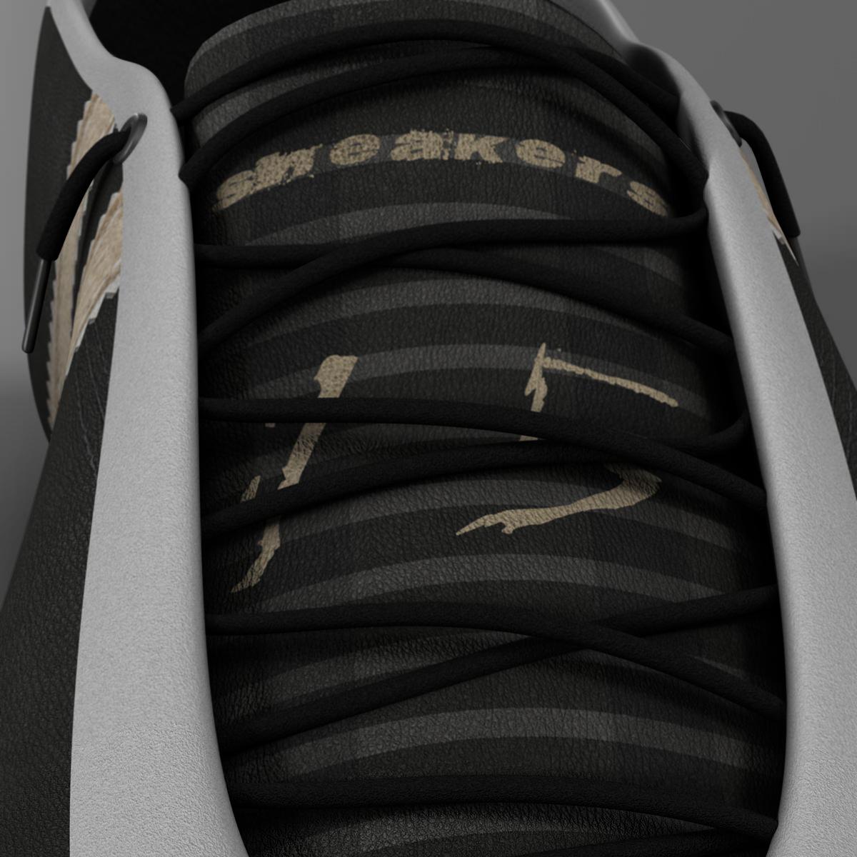 sneakers 3d model 3ds max fbx c4d ma mb obj 160388