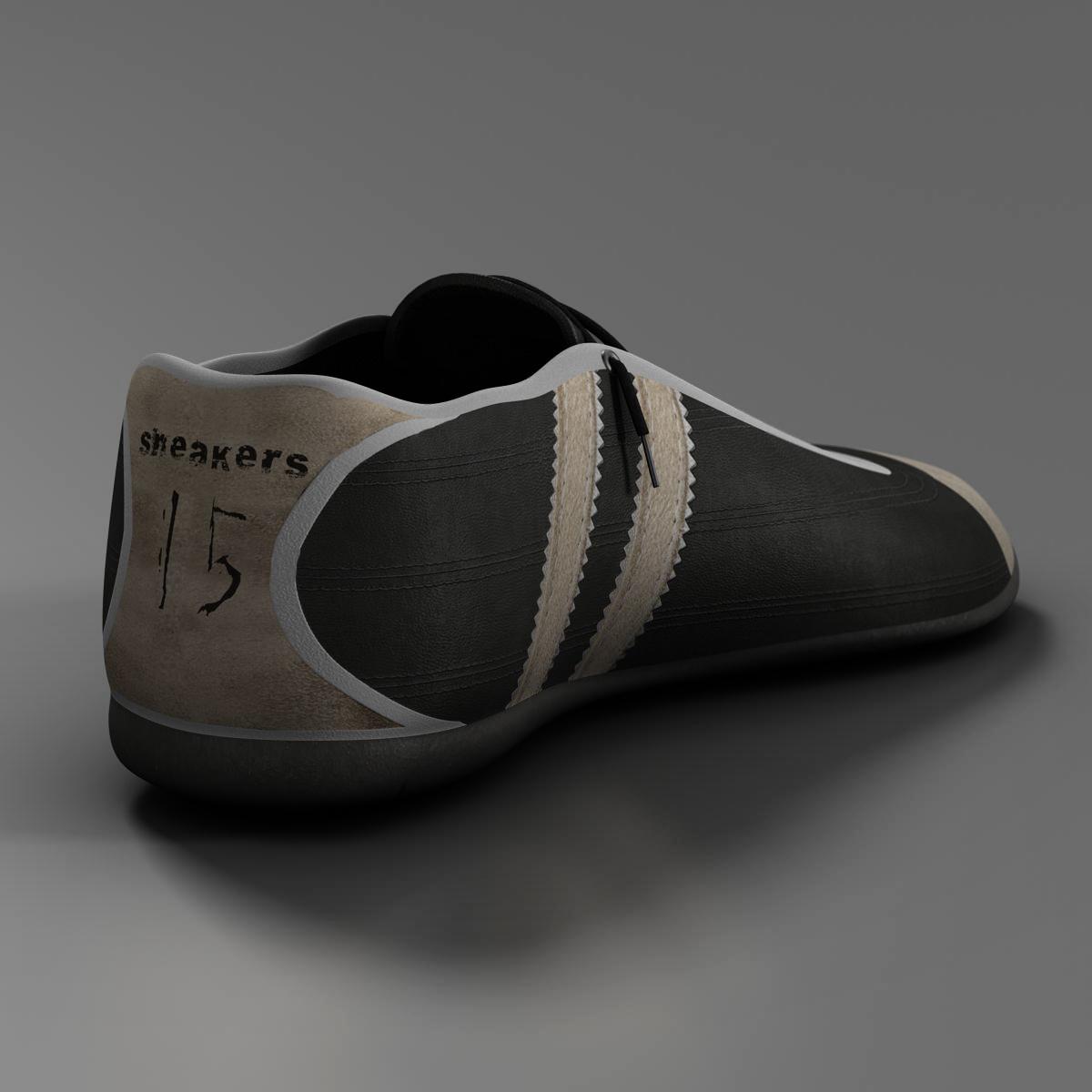 sneakers 3d model 3ds max fbx c4d ma mb obj 160389