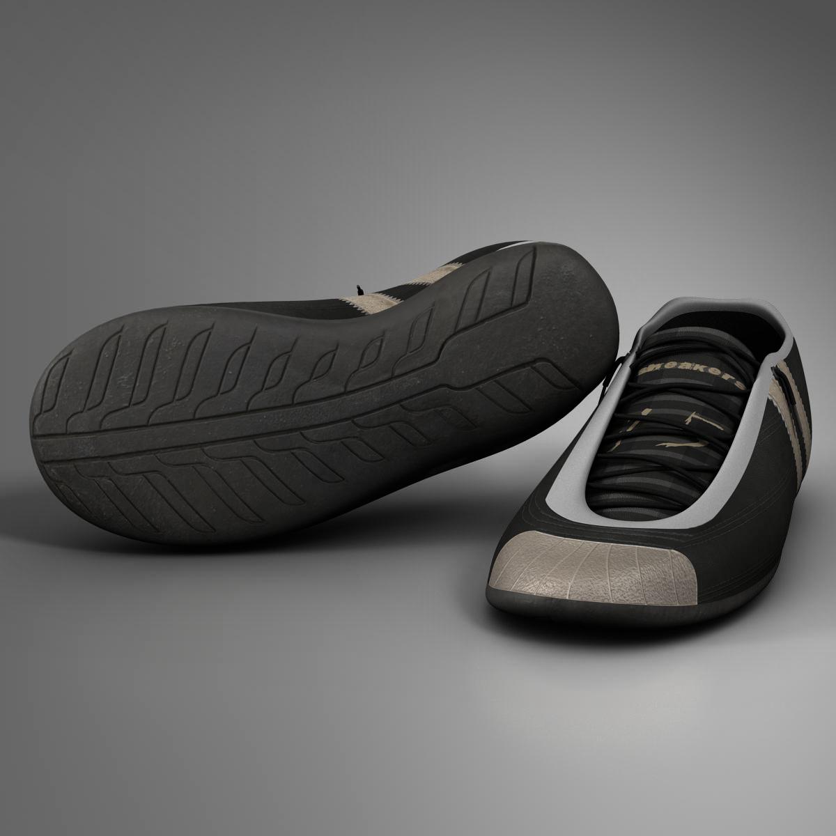 sneakers 3d model 3ds max fbx c4d ma mb obj 160392