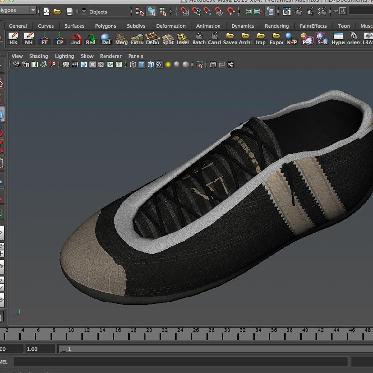 sneakers 3d model 3ds max fbx c4d ma mb obj 160394