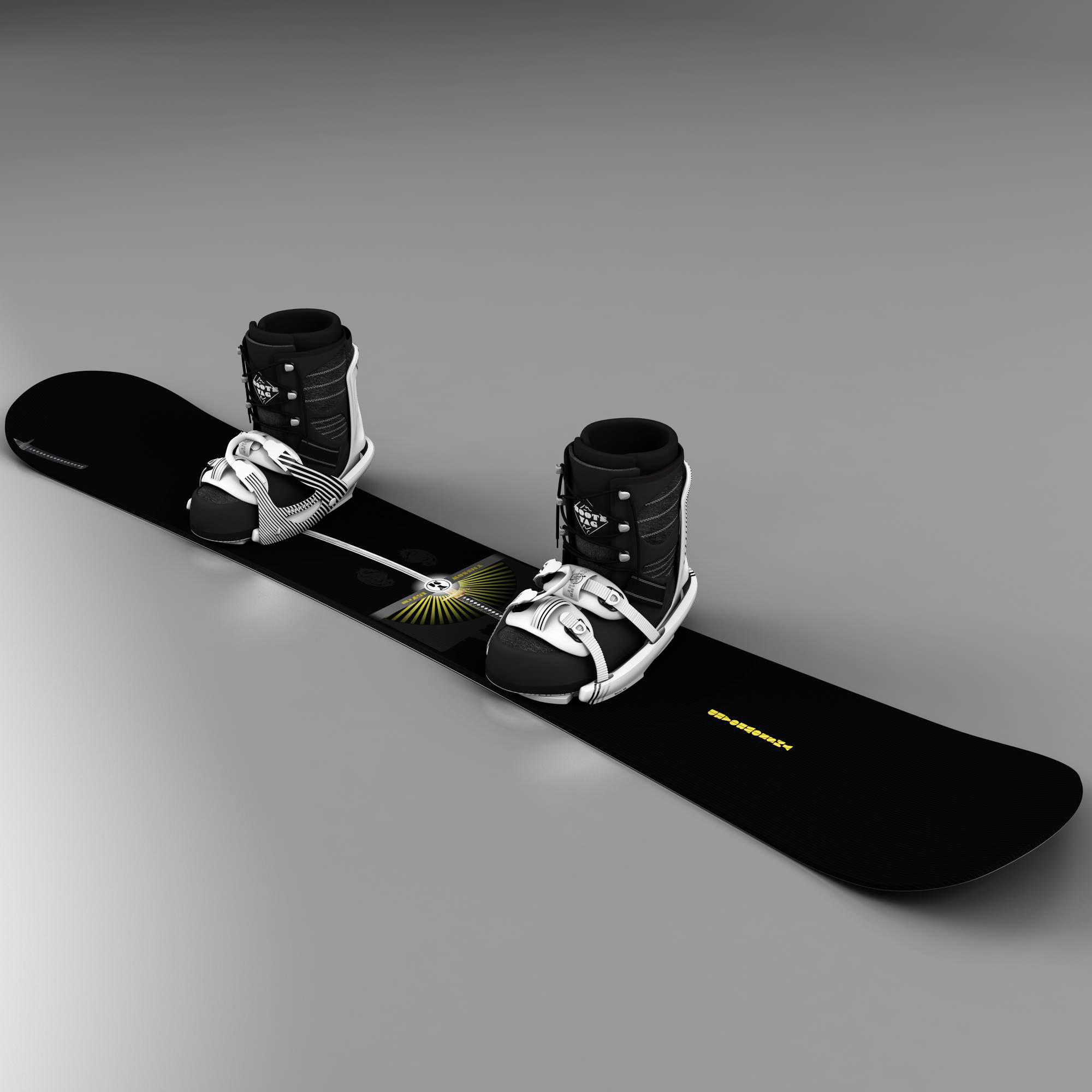 snow board 3d model 3ds max fbx ma mb obj 157638