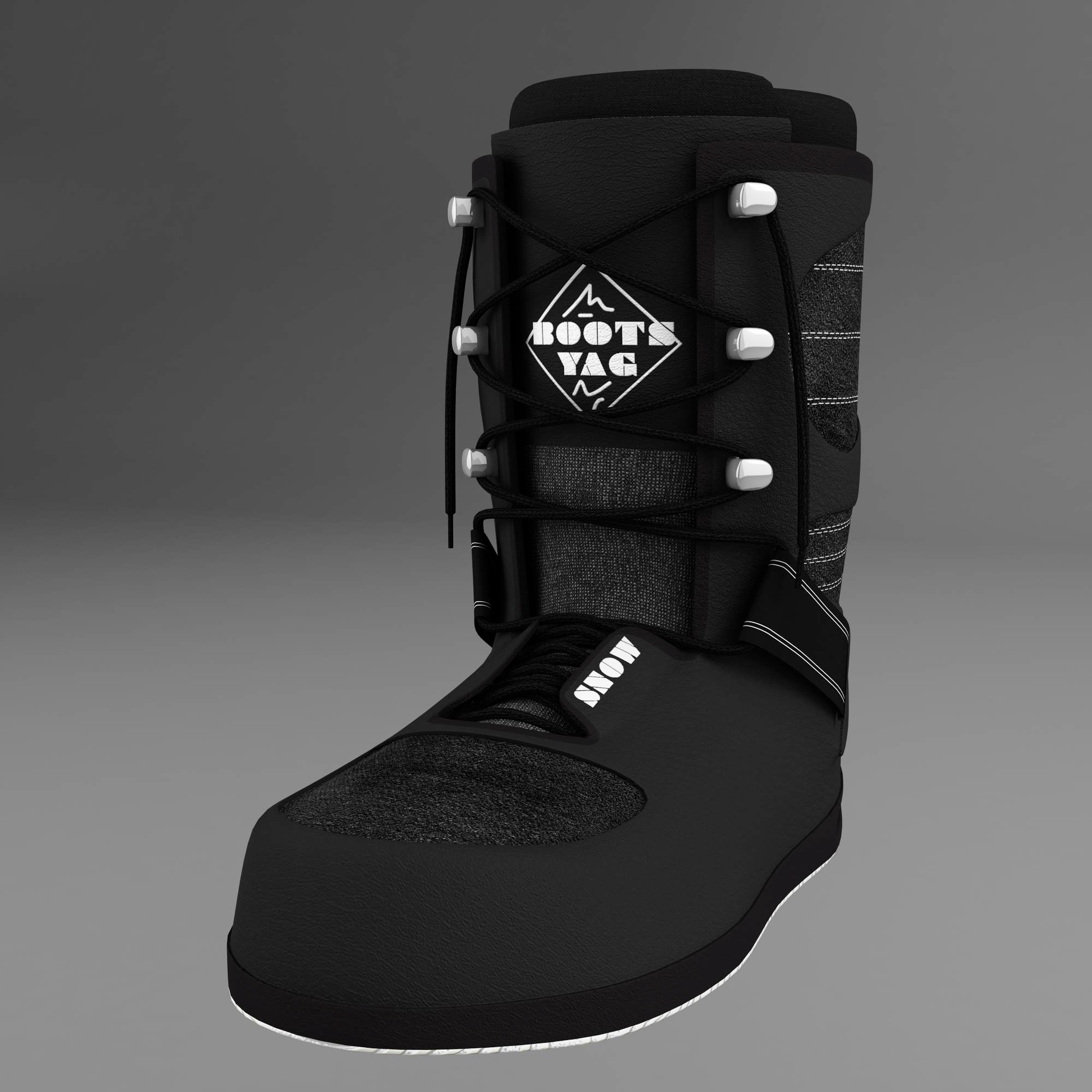snow boots 3d model 3ds max fbx ma mb obj 157581