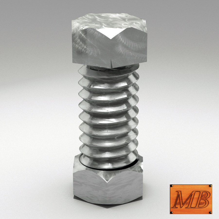 bolt and nut animated 3d model 3ds max fbx c4d dae  obj 157411