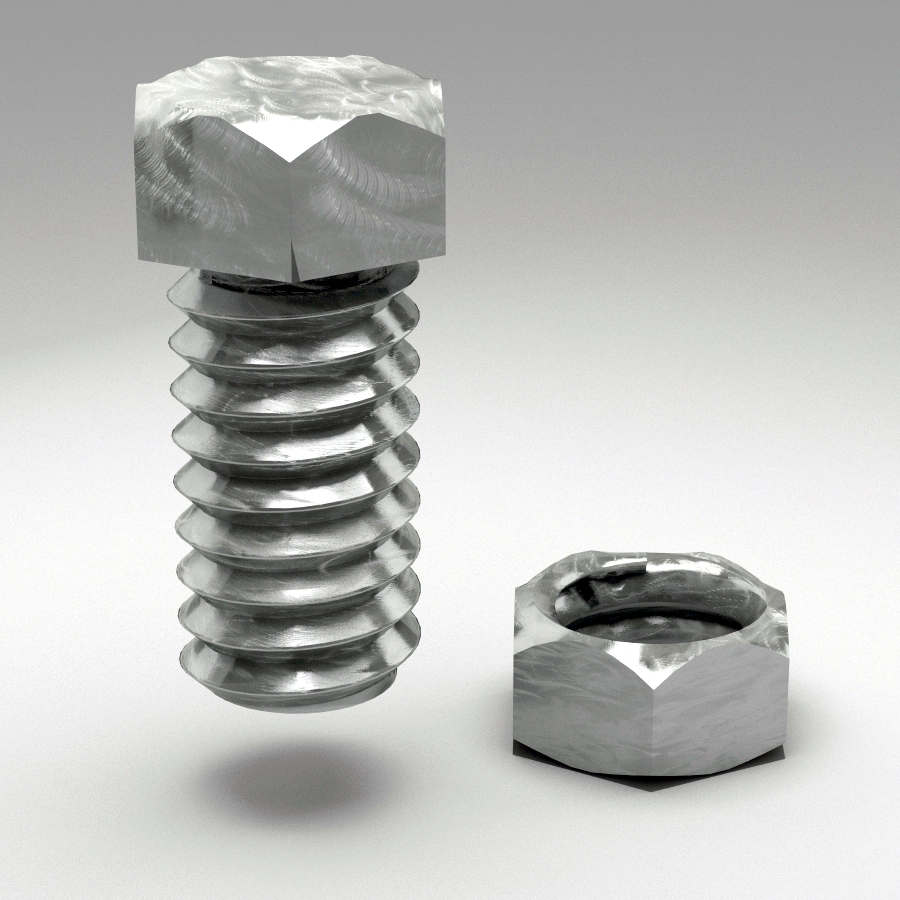 bolt and nut animated 3d model 3ds max fbx c4d dae  obj 157412