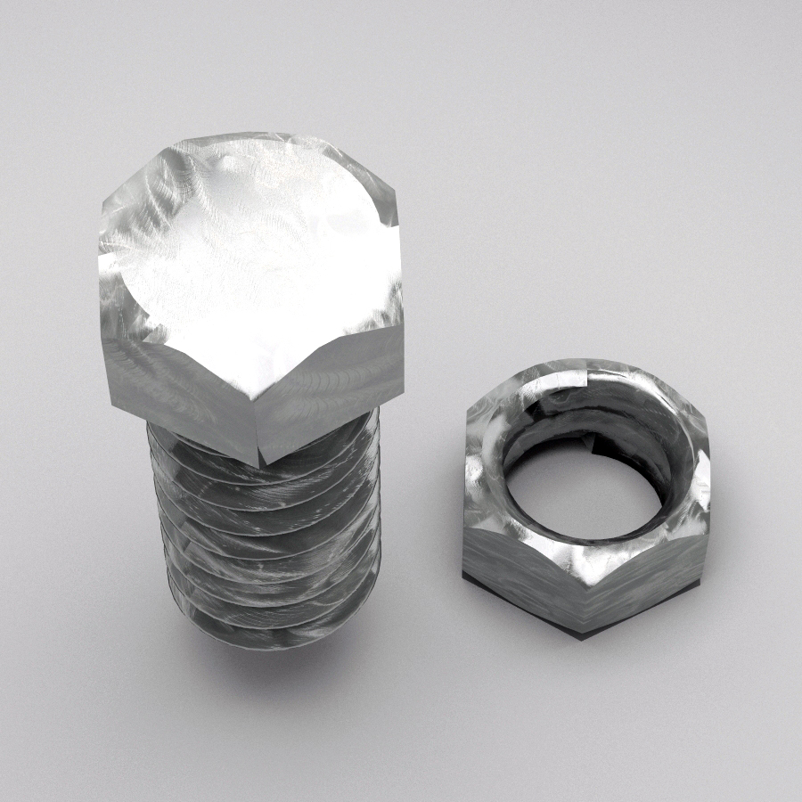 bolt and nut animated 3d model 3ds max fbx c4d dae  obj 157413