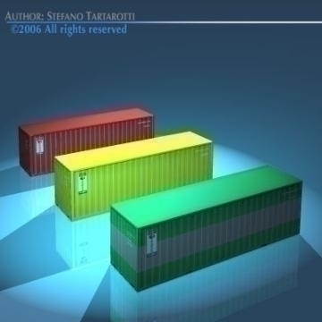 cargo container 3d model 3ds dxf obj other 78471
