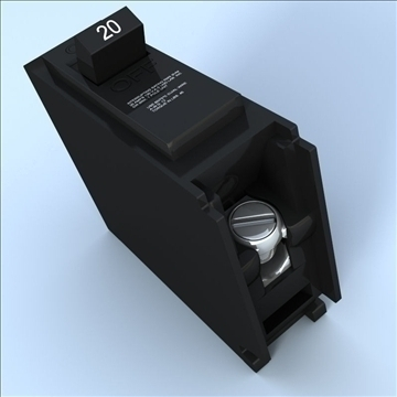 circuit breaker 3d model 3ds max lwo hrc xsi obj 100521