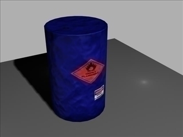 flammable gas barrel 3d model max 96971