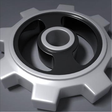 gear 3d model 3ds max fbx obj 105696