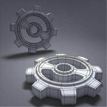 gear 3d model 3ds max fbx obj 105699