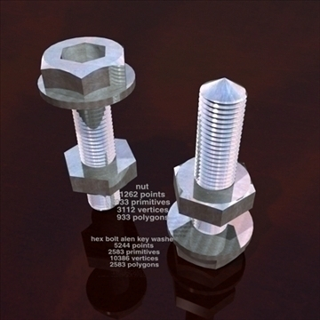 hex bolt allen main wheel round 3d model 3ds dxf obj other 96161