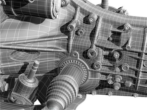 undercarriage 3d model 3ds max c4d lwo ma mb obj 158740
