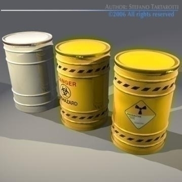 waste drum 3d model 3ds other obj 77542