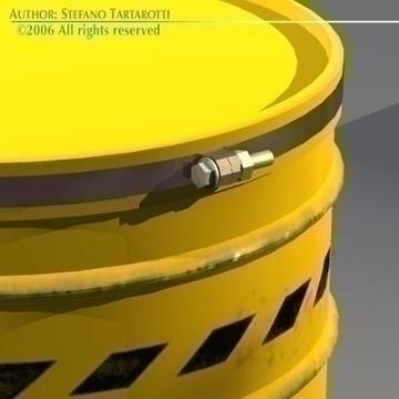 waste drum 3d model 3ds other obj 77545