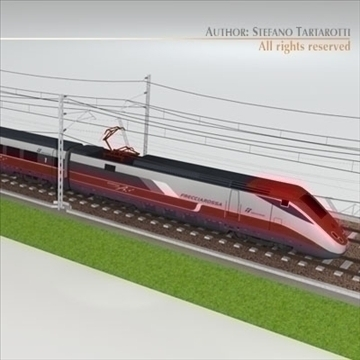 etr500 frecciarossa and main line 3d model 3ds dxf c4d obj 105927