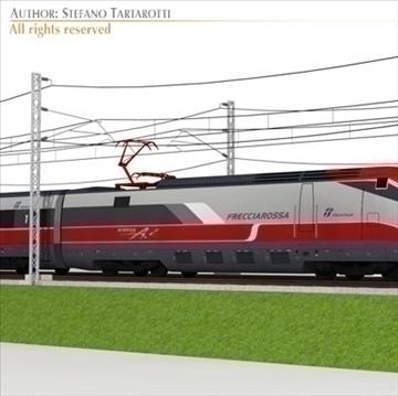 etr500 frecciarossa and main line 3d model 3ds dxf c4d obj 105930