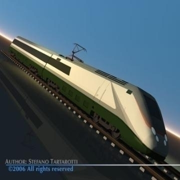 etr500 high speed train 3d modelo 3ds dxf obj ibang 78334