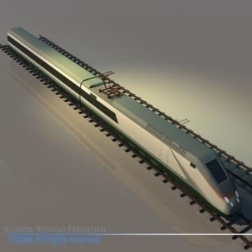 etr500 high speed train 3d model 3ds dxf obj other 78335