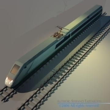 etr500 high speed train 3d model 3ds dxf obj other 78336