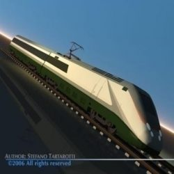 ETR500 high speed train ( 42.7KB jpg by tartino )
