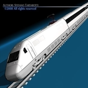 high speed train 3d model 3ds dxf c4d obj 88260