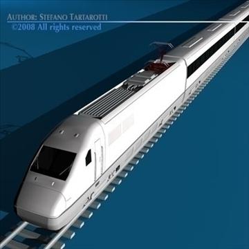 high speed train 3d model 3ds dxf c4d obj 88261