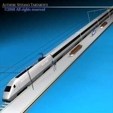 high speed train 3d model 3ds dxf c4d obj 88262