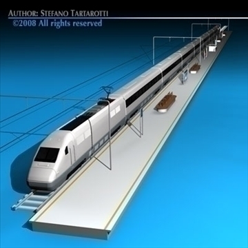 high speed train 3d model 3ds dxf c4d obj 88263