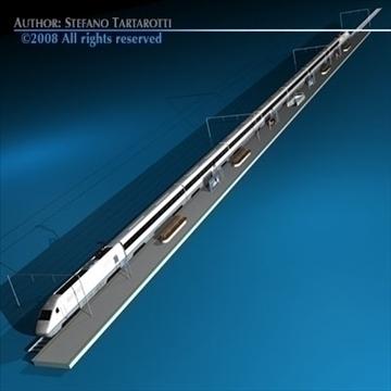 high speed train 3d model 3ds dxf c4d obj 88264