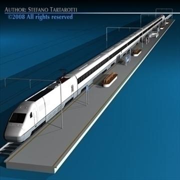 high speed train 3d model 3ds dxf c4d obj 88265