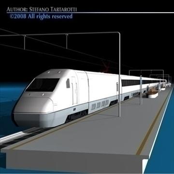 high speed train 3d model 3ds dxf c4d obj 88266
