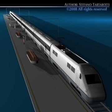 high speed train 3d model 3ds dxf c4d obj 88267