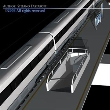 high speed train 3d model 3ds dxf c4d obj 88268