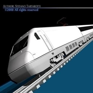 high speed train 3d model 3ds dxf c4d obj 88269