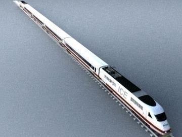 ice train 3d model 3ds lwo 77937