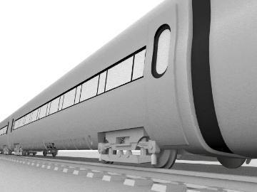ice train 3d model 3ds lwo 77943