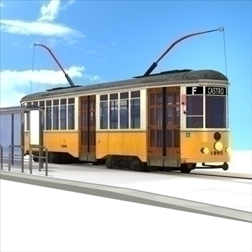 san francisco tramvaj 3d model 3ds dxf c4d obj 104276