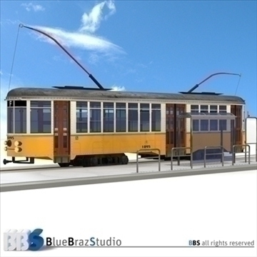 san francisco tramway 3d model 3ds dxf c4d obj 104277