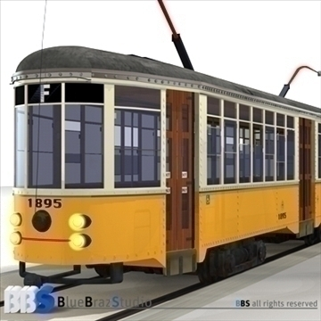 san francisco tramway 3d model 3ds dxf c4d obj 104280